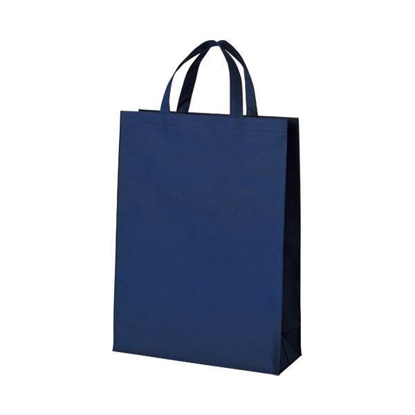 【直送】(まとめ)スマートバリュー 不織布手提げバッグ中10枚ブルー B451J-BL〔×5セット〕