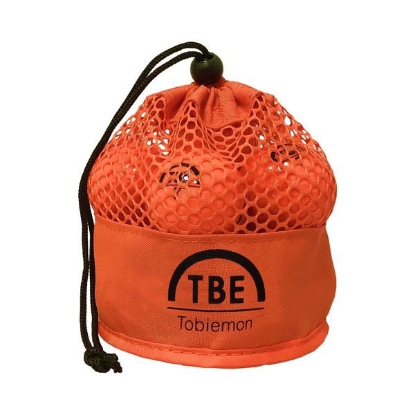 【直送】12個セット TOBIEMON 2ピース カラーボール メッシュバック入り オレンジ TBM-2MBOX12