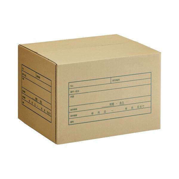 【直送】(まとめ) TANOSEE A式文書保存箱 A4用 内寸:W400×D320×H260mm 1パック(10個) 〔×5セット〕
