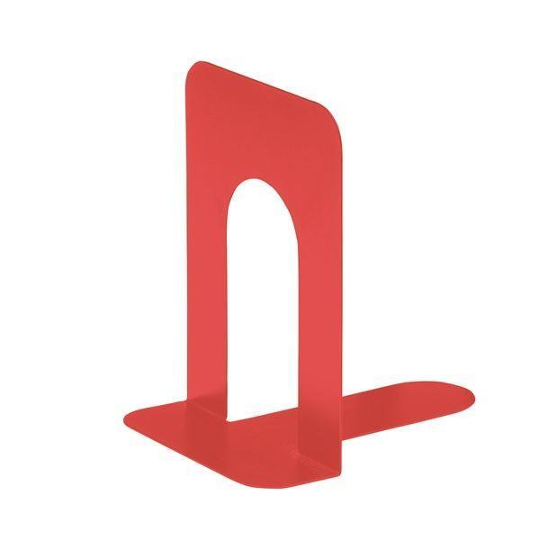 【直送】(まとめ) TANOSEE ブックエンド T型 特大 コーラルレッド 1組(2枚) 〔×30セット〕