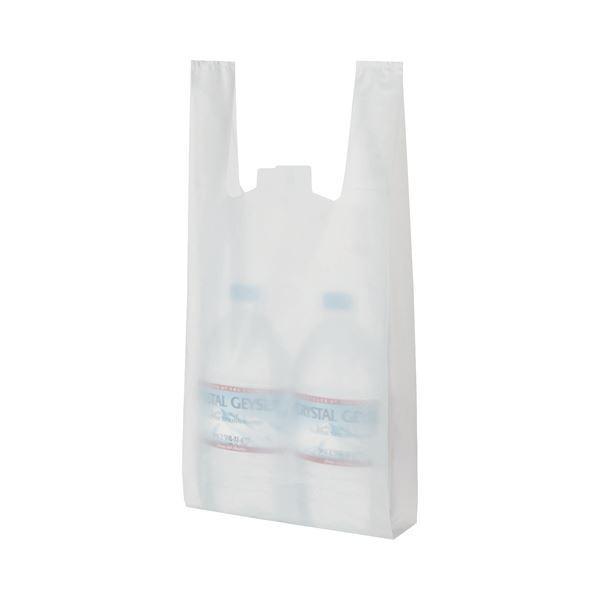 【直送】(まとめ) TANOSEE 乳白レジ袋 25号 ヨコ215×タテ480×マチ幅125mm 1パック(100枚) 〔×30セット〕