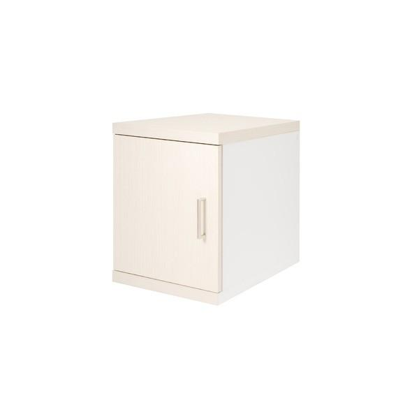 【直送】薄型サイドボックス ロータイプ WH ホワイト
