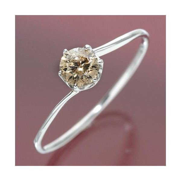 【送料無料/即納】  K18ホワイトゴールド 0.3ctシャンパンカラーダイヤリング 9号 指輪 指輪 9号, 3-PEACE:0d20e746 --- airmodconsu.dominiotemporario.com