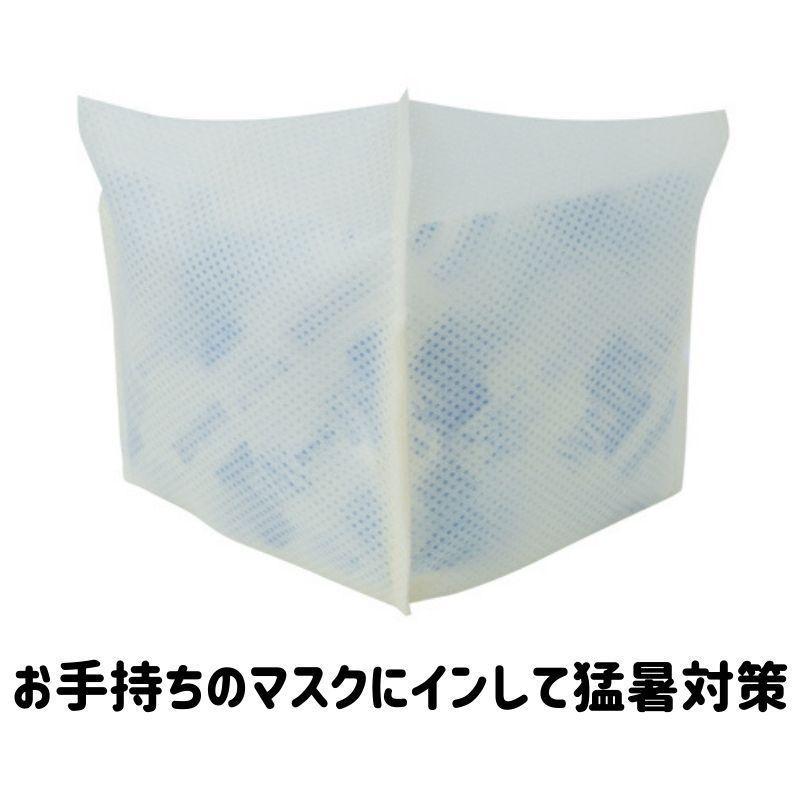 インナーマスク保冷剤 保冷剤2個付 夏用マスク|happylunch|02