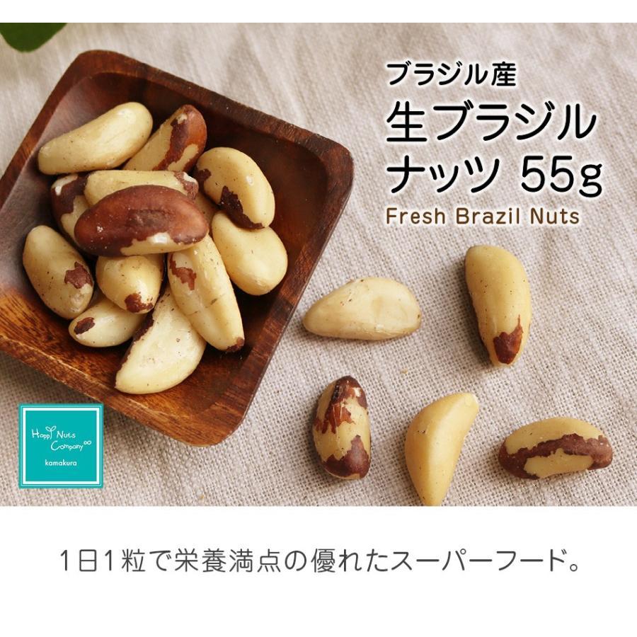生ブラジルナッツ 55g スーパーフード 無塩 無添加 小分け ダイエットサポート 抗酸化物質セレン 一日一粒  ハッピーナッツカンパニー|happynutscompany|02
