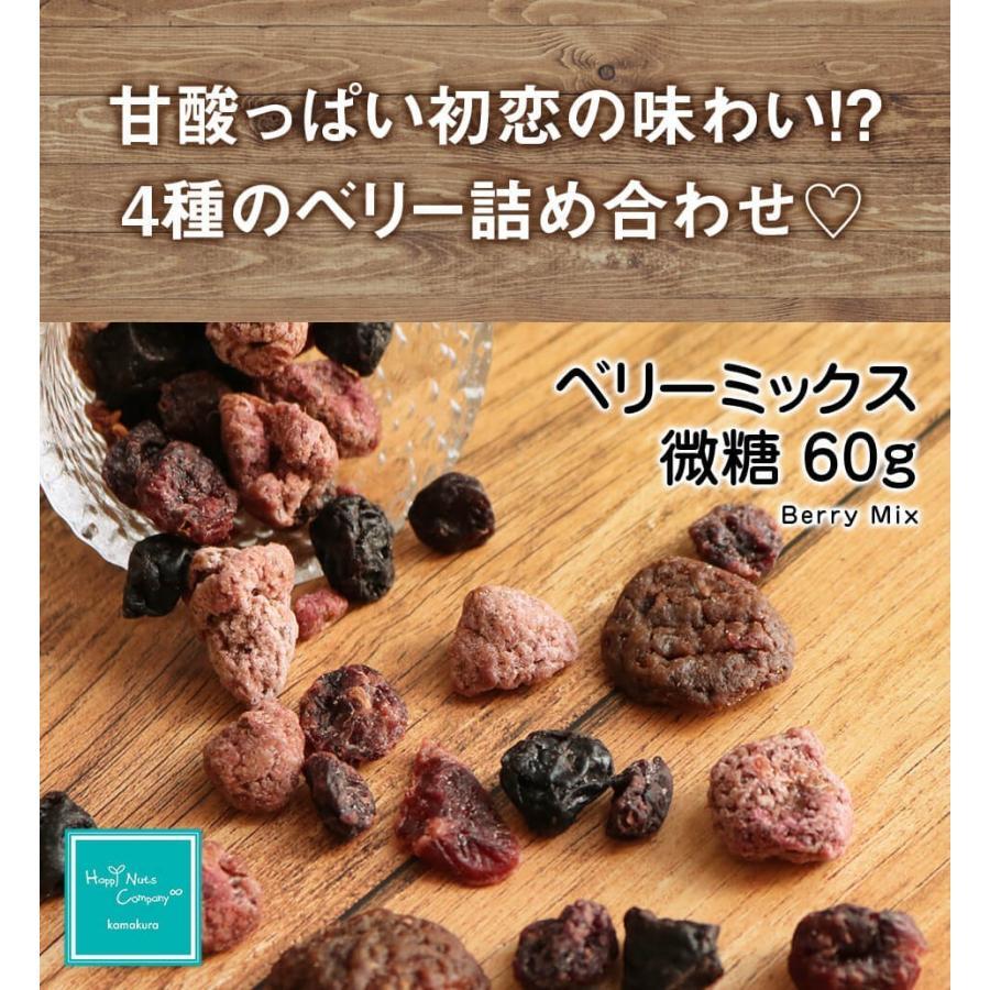 ベリーミックス 微糖 60g ドライフルーツ スーパーフード ビューテイーサポート ダイエットサポート ハッピーナッツカンパニー|happynutscompany|02