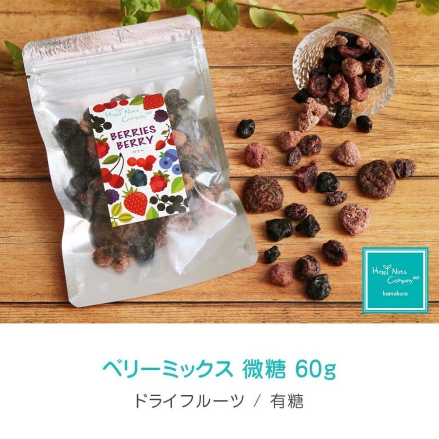 ベリーミックス 微糖 60g ドライフルーツ スーパーフード ビューテイーサポート ダイエットサポート ハッピーナッツカンパニー|happynutscompany|06
