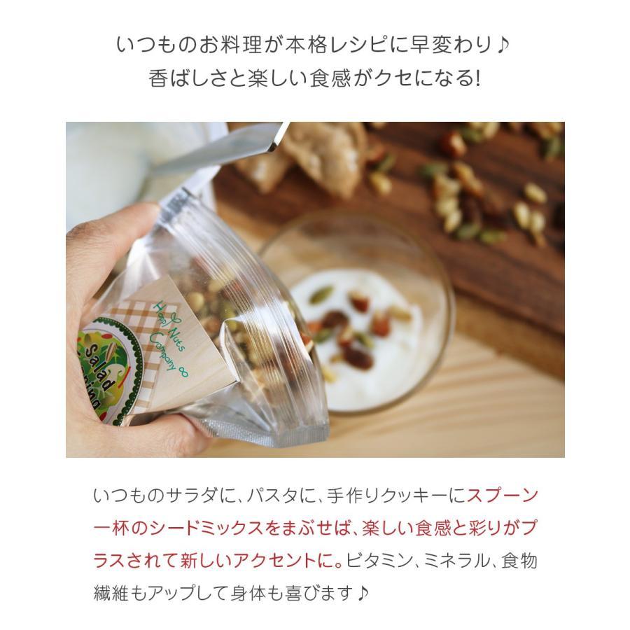 サラダ トッピング ナッツ 健康の実 ミックス 有塩 60g シード レーズン アーモンド くるみ かぼちゃの種 松の実 ハッピーナッツカンパニー|happynutscompany|05