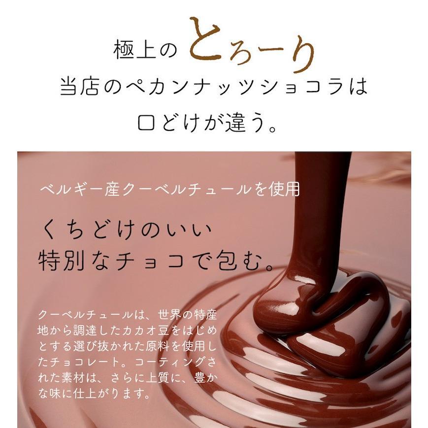 ペカンナッツ ショコラ キャラメル 60g  ピーカンナッツチョコレート  ベルギー産チョコレート使用 ハッピーナッツカンパニー バレンタインデー ホワイトデー|happynutscompany|08