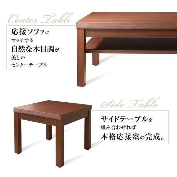 応接テーブル おしゃれ サイドテーブル W55 重厚デザイン|happyrepo|02