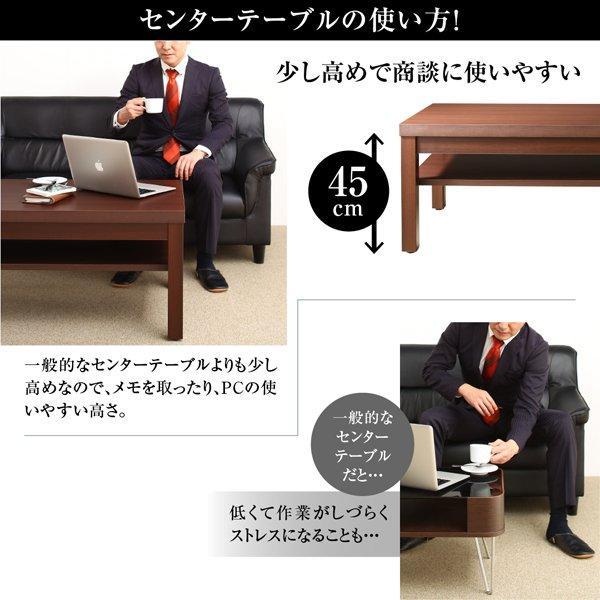 応接テーブル おしゃれ サイドテーブル W55 重厚デザイン|happyrepo|03