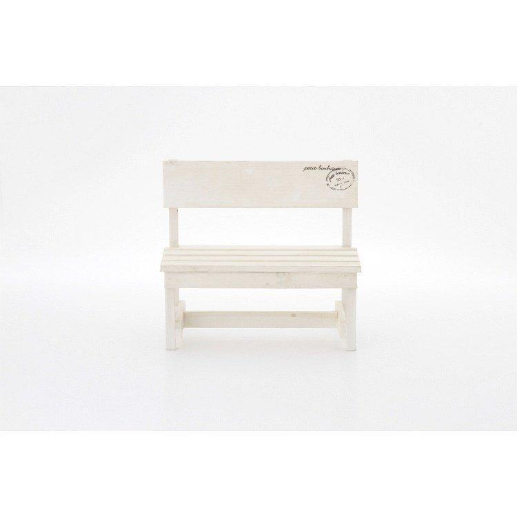 ミニベンチ おしゃれ 木製 2個セット ホワイト happysofa 02