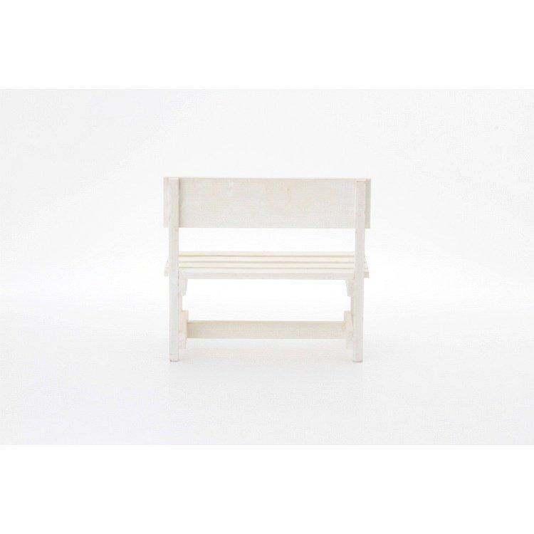 ミニベンチ おしゃれ 木製 2個セット ホワイト happysofa 04