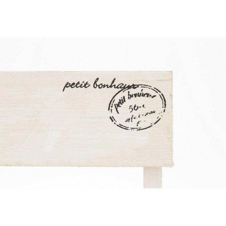 ミニベンチ おしゃれ 木製 2個セット ホワイト happysofa 05