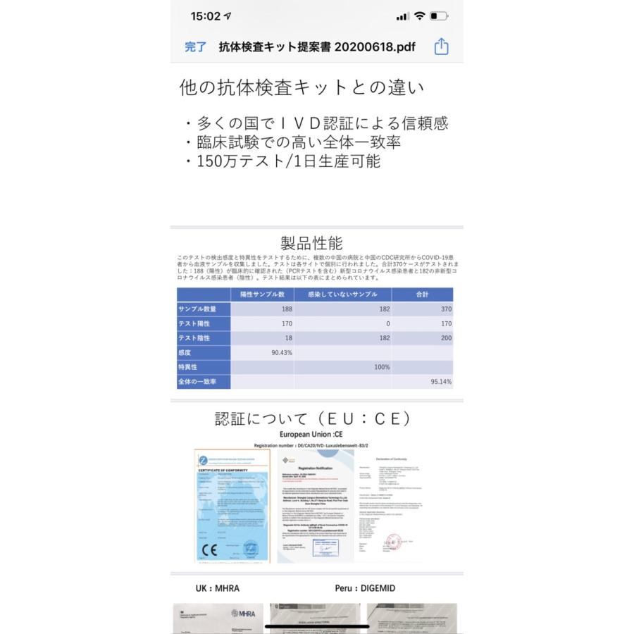 コロナ検査キット【当日発送】1人分 コロナ抗体検査キット コロナ対策グッズ(EC認証、95%以上高精度) 検査キット|happystoneshop|03