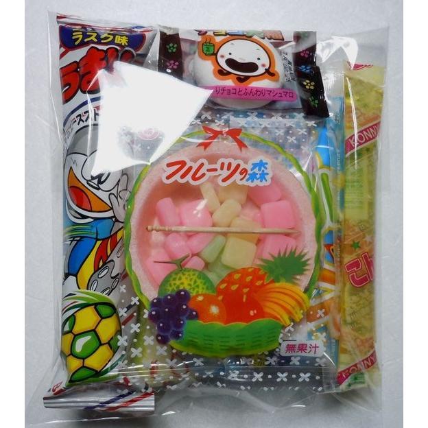 80円 駄菓子 詰め合わせ OPP袋入り Bセット お菓子5品入り|harasho