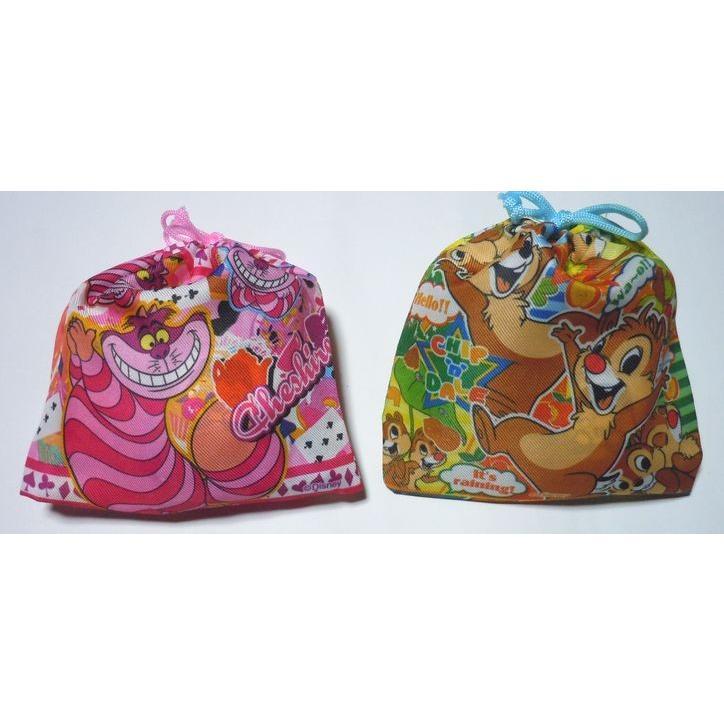 お菓子 駄菓子 詰め合わせ 結婚式 プチギフト ディズニー 巾着袋入り   メッセージカード サンクスカード harasho 06