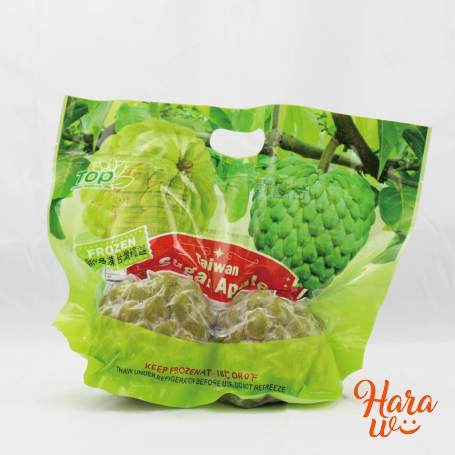 台湾 フローズン 釈迦頭 (しゃかとう)バンレイシ 1袋(2〜3個入)|harawii-yum2taiwan|02