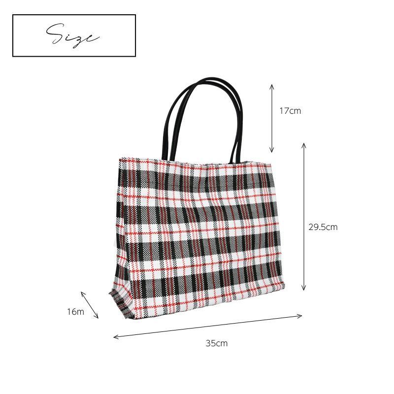 トートバッグ カゴバッグ ビニール編み 軽量 エコバッグ マザーバッグ  ショッピングバッグ 撥水 防水 PP ナイロン 買い物 かご バッグ レディース|harbest-kobe|11