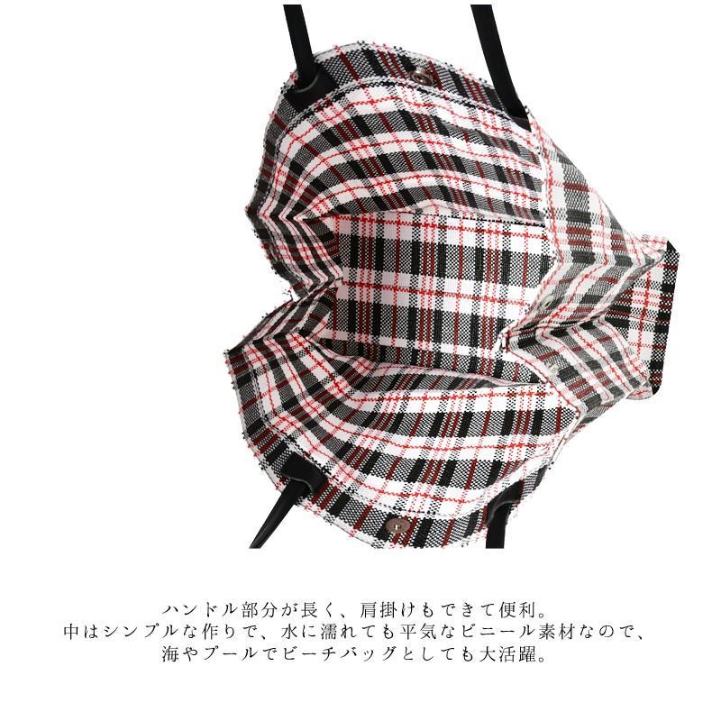 トートバッグ カゴバッグ ビニール編み 軽量 エコバッグ マザーバッグ  ショッピングバッグ 撥水 防水 PP ナイロン 買い物 かご バッグ レディース|harbest-kobe|04