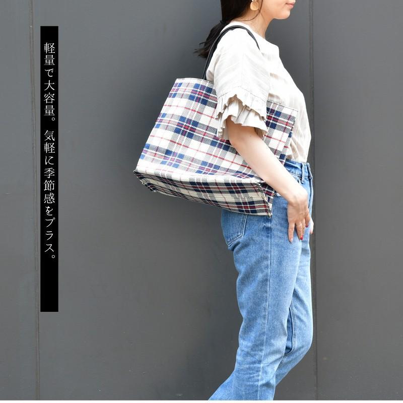 トートバッグ カゴバッグ ビニール編み 軽量 エコバッグ マザーバッグ  ショッピングバッグ 撥水 防水 PP ナイロン 買い物 かご バッグ レディース|harbest-kobe|05