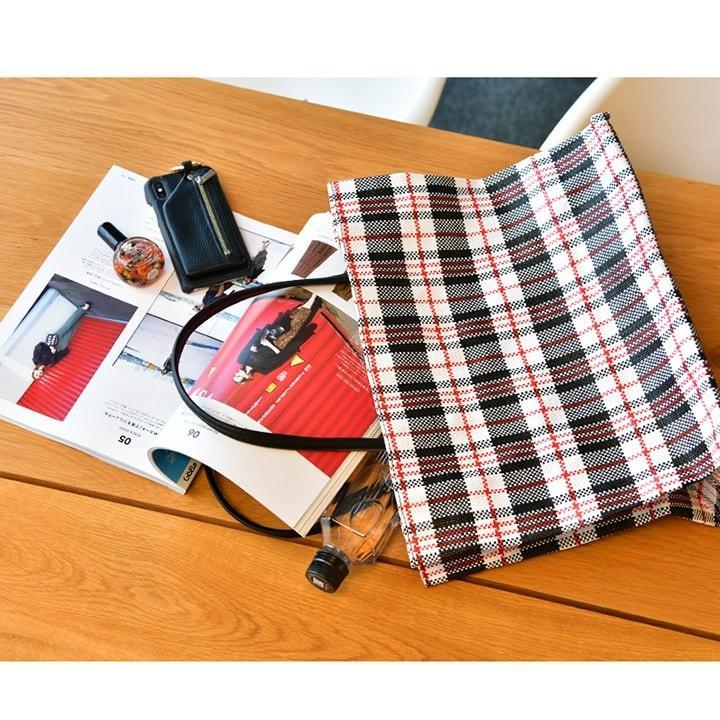 トートバッグ カゴバッグ ビニール編み 軽量 エコバッグ マザーバッグ  ショッピングバッグ 撥水 防水 PP ナイロン 買い物 かご バッグ レディース|harbest-kobe|07