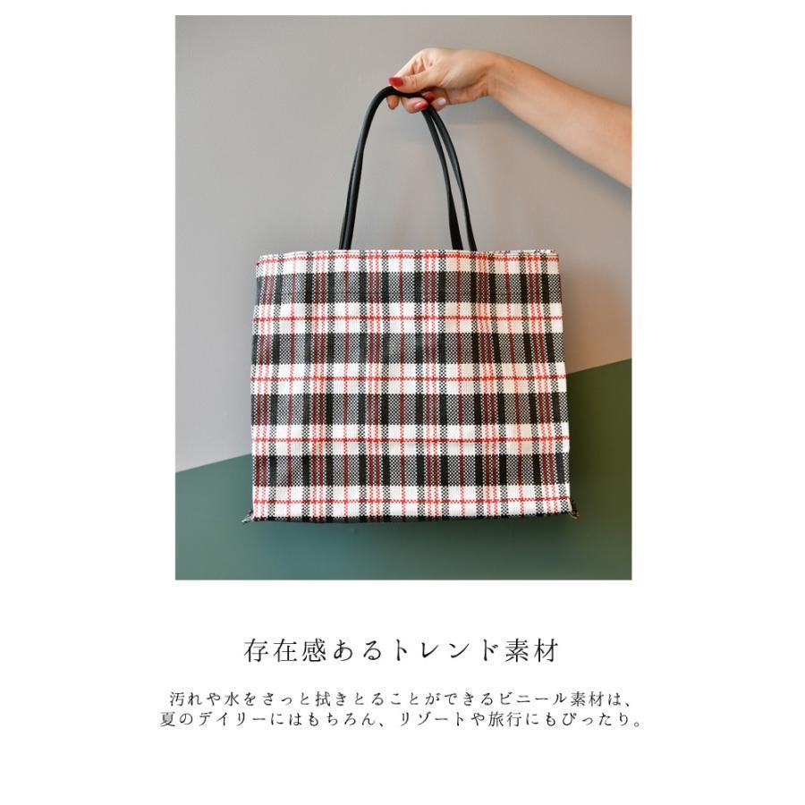 トートバッグ カゴバッグ ビニール編み 軽量 エコバッグ マザーバッグ  ショッピングバッグ 撥水 防水 PP ナイロン 買い物 かご バッグ レディース|harbest-kobe|08