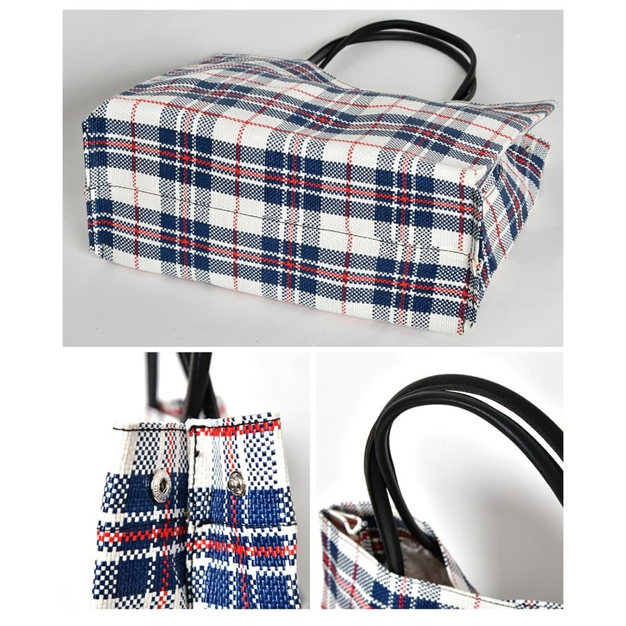 トートバッグ カゴバッグ ビニール編み 軽量 エコバッグ マザーバッグ  ショッピングバッグ 撥水 防水 PP ナイロン 買い物 かご バッグ レディース|harbest-kobe|10