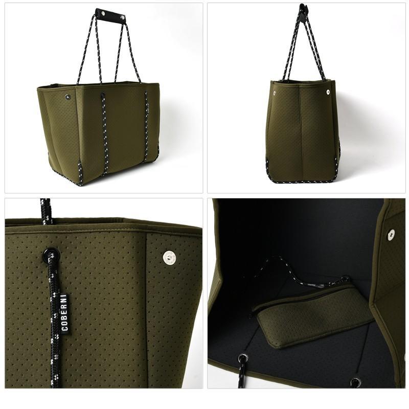 新型 NEW ネオプレーン トートバッグ ネオプレン バッグ BAG レディース メンズ エコバッグ レジカゴ 大容量 軽い 肩掛け マザーズバッグ ショッピングバッグ harbest 14