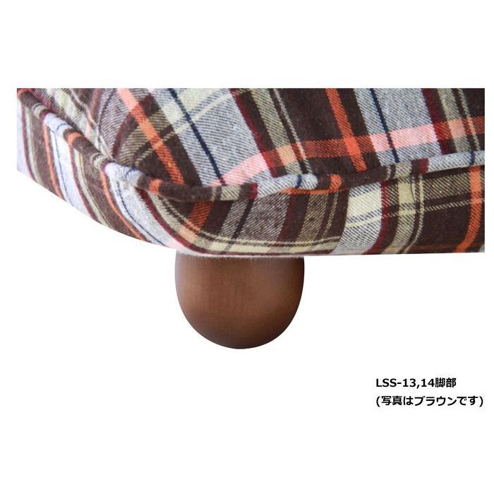 ソファ ソファー 1人掛け リクライニング リクライニングソファ 座椅子 リクライニング座椅子 ロータイプ 幅57cm カレン ブラウン チェック柄 1人掛けソファ|harda-kagu|03