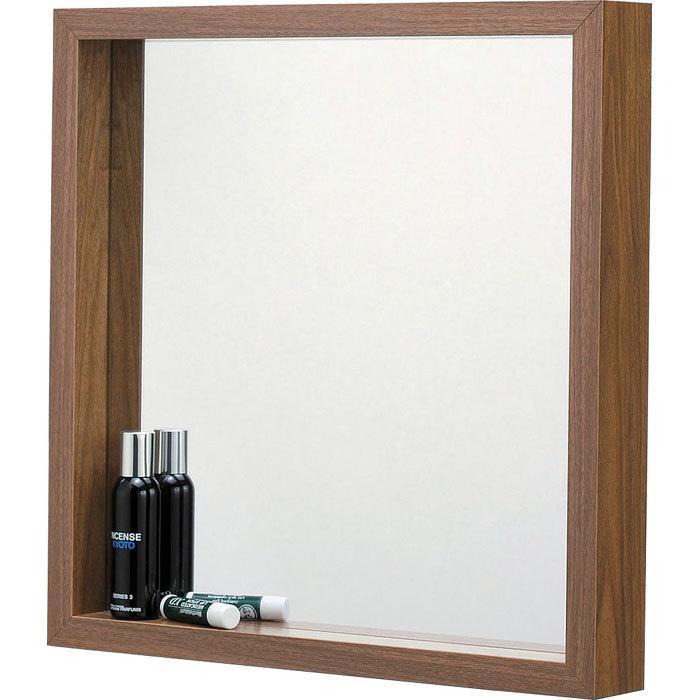 完成品 壁掛け ミラー ウォールミラー L ウォールナット 壁掛けミラー 鏡 メーカー再生品 かがみ 洗面鏡 洗面所 壁掛け鏡 激安超特価 木製フレーム 木製 壁面鏡 吊鏡 シンプル 壁面ミラー