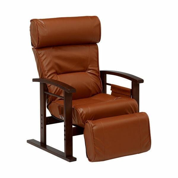 リクライニング高座椅子 ブラウン リクライニングチェア 高座椅子