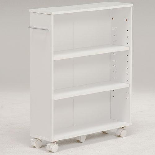 本棚 書棚 期間限定特別価格 隙間収納 スライド 幅16cm 高さ68cm ホワイト 隙間本棚 隙間ワゴン クローゼットラック クローゼット本棚 スリム 返品送料無料 隙間 スライド本棚 隙間棚