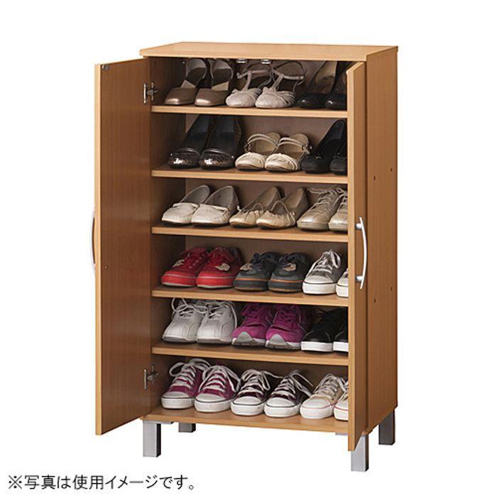 下駄箱 シューズボックス 幅60cm 幅60cm 高さ103cm 扉付き 2扉 ナチュラル シューズラック 靴入れ 玄関 靴 収納 棚 靴箱