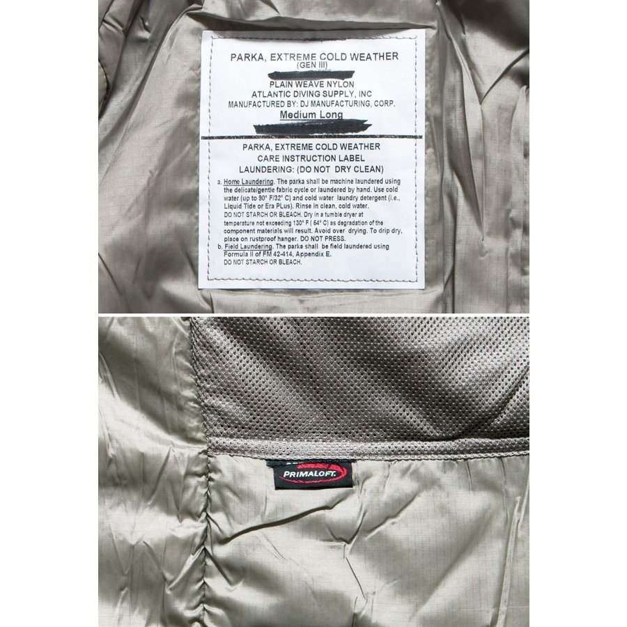 ECWCS GEN3 LEVEL7 PRIMALOFT PARKA プリマロフト パーカー グレー (DEAD STOCK)|hartleystore|05