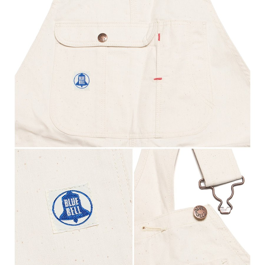 ラングラー ブルーベル 生成り オーバーオール Wrangler Blue Bell Work Series オフホワイト|hartleystore|03