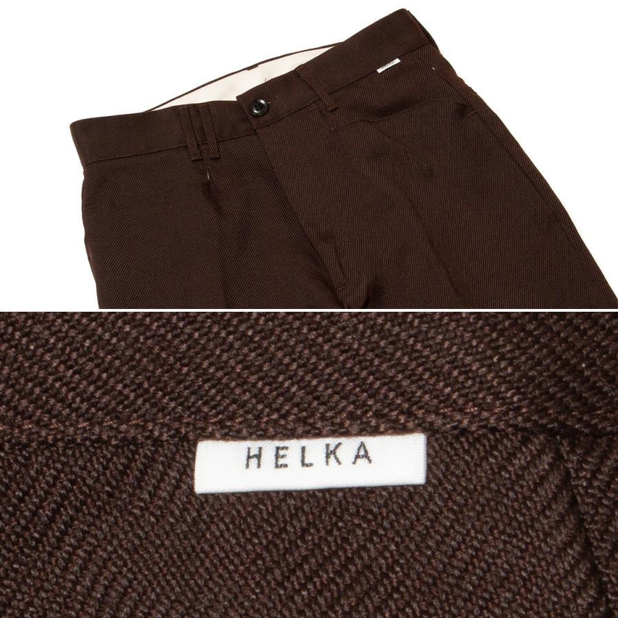 HELKA WOOL LIKE PE TWILL ヘルカ ウールライク トラウザー パンツ TROUSERS-05A 日本製|hartleystore|14