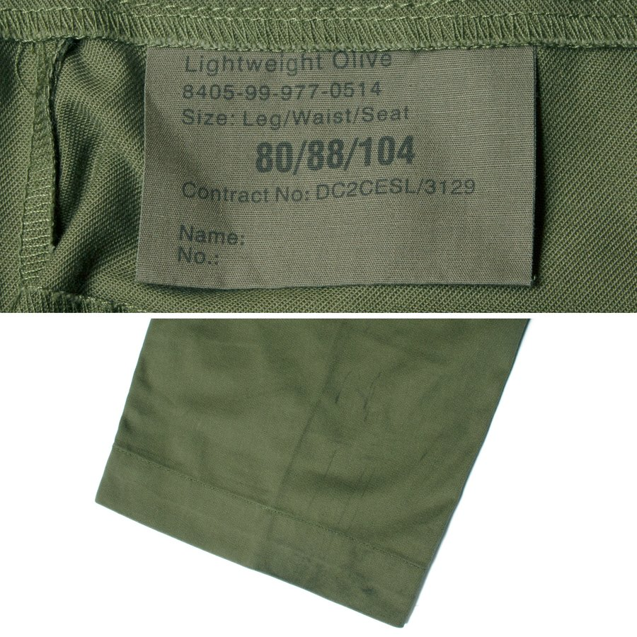 British Army Light Weight Fatigue Pants イギリス軍 ファティーグパンツ オリーブ (DEAD STOCK)|hartleystore|06