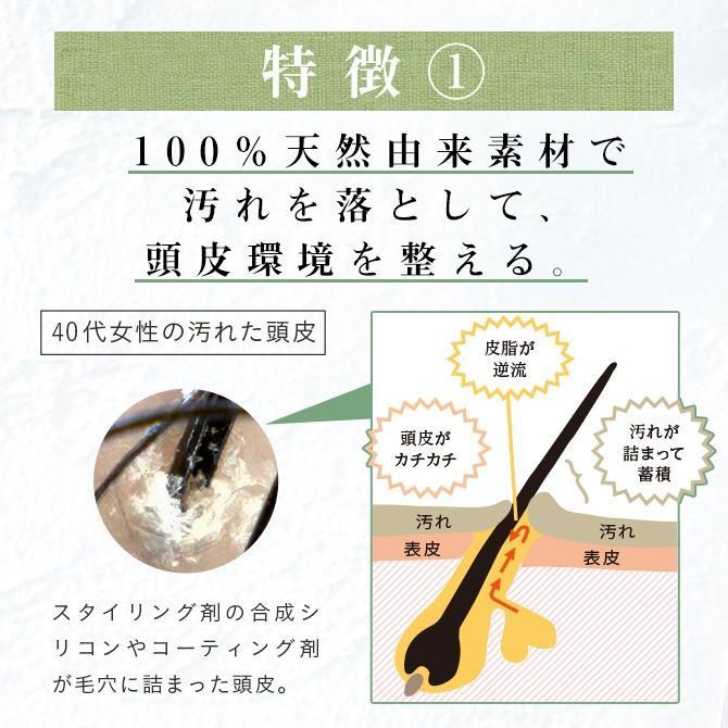 シャンプー haru 100%天然由来の「kurokamiスカルプ 3本セット(25%OFF) 」。ノンシリコン&リンス・コンディショナー不要。1本あたり一番お得 haru-shop 05