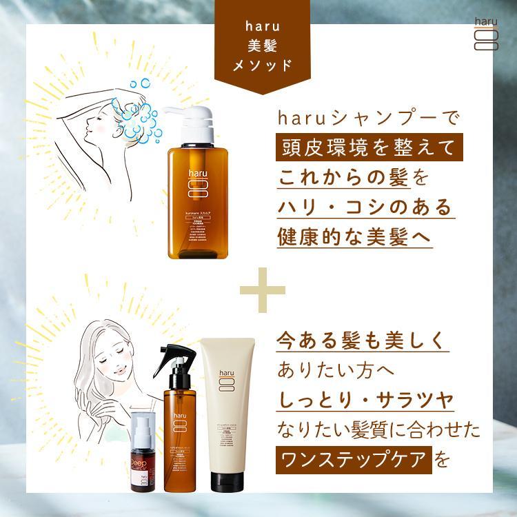 シャンプー&アウトバストリートメント haru  【15%OFF】 100%天然由来「くろかみ基礎セット」|haru-shop|03