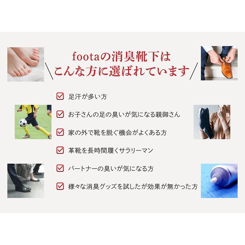 消臭 靴下 スニーカー丈五本指ソックス 足の臭い対策 foota haruchisyoutengai 04