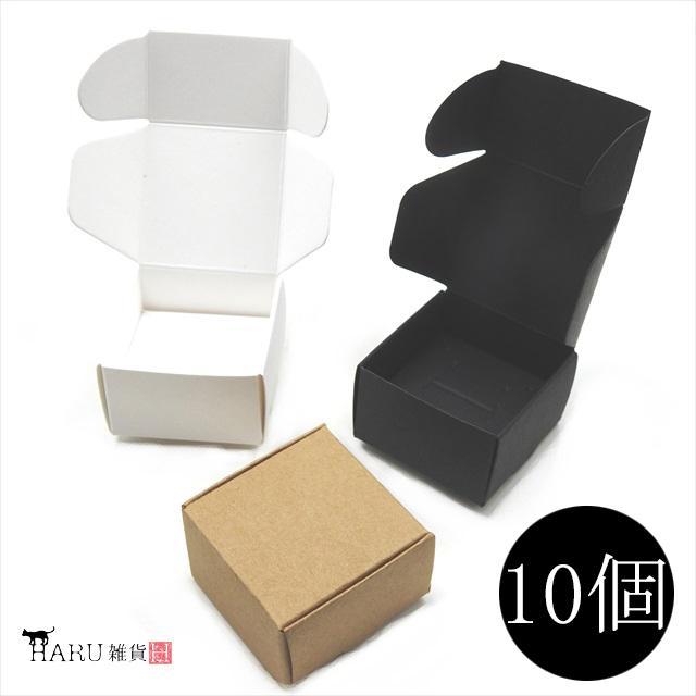 アクセサリーボックス 10枚セット 箱 折りたたみ ジュエリー ピアス イヤリング ギフト ラッピング 紙箱 折り畳み 梱包 白 黒 茶 ホワイト ブラック ブラウン|haruzakka