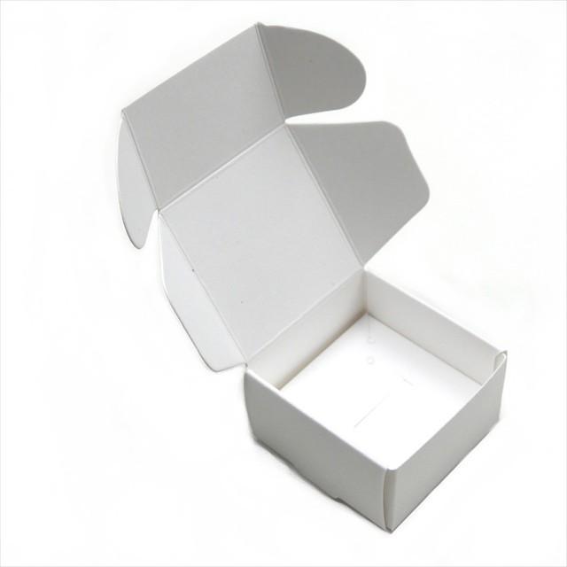 アクセサリーボックス 10枚セット 箱 折りたたみ ジュエリー ピアス イヤリング ギフト ラッピング 紙箱 折り畳み 梱包 白 黒 茶 ホワイト ブラック ブラウン|haruzakka|12