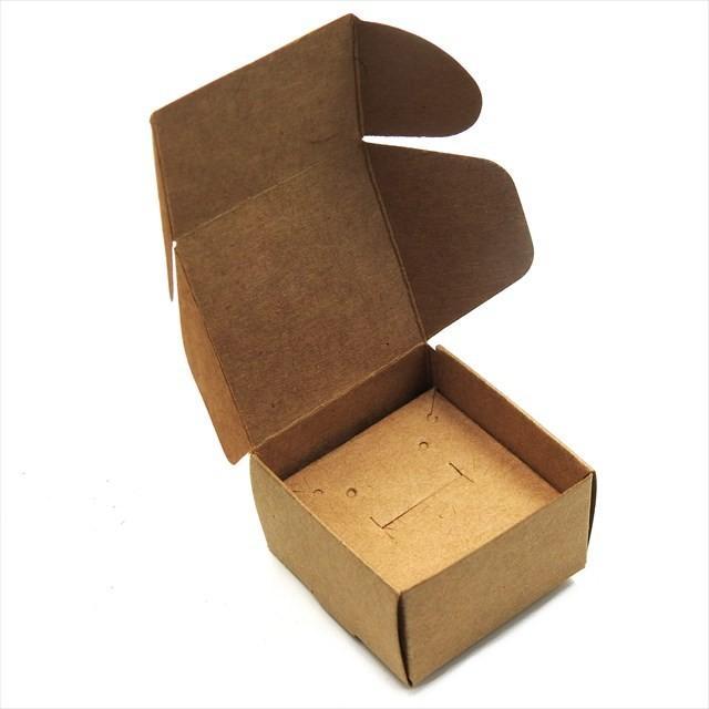 アクセサリーボックス 10枚セット 箱 折りたたみ ジュエリー ピアス イヤリング ギフト ラッピング 紙箱 折り畳み 梱包 白 黒 茶 ホワイト ブラック ブラウン|haruzakka|13