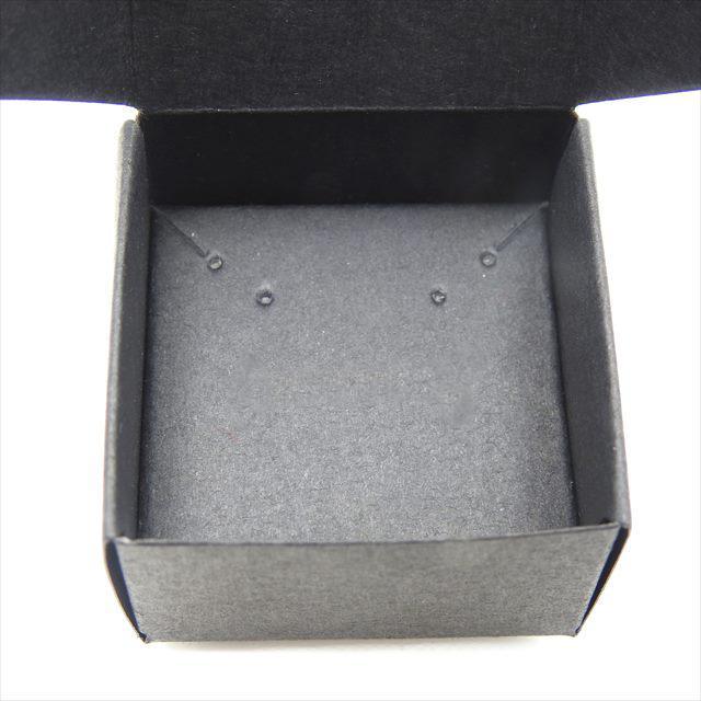 アクセサリーボックス ブラック 10枚セット 黒 箱 折りたたみ ジュエリー ピアス イヤリング ギフト ラッピング 紙箱 折り畳み 梱包 小さめ おしゃれ 小物入れ haruzakka 02