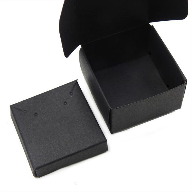 アクセサリーボックス ブラック 10枚セット 黒 箱 折りたたみ ジュエリー ピアス イヤリング ギフト ラッピング 紙箱 折り畳み 梱包 小さめ おしゃれ 小物入れ haruzakka 03
