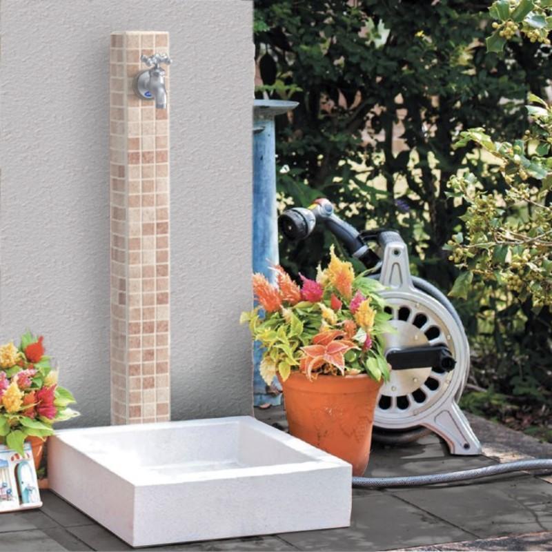モザイクタイル 水栓柱ユニット