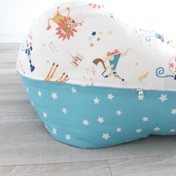 抱き枕 ロングクッション CIRCUS-サーカス-(Aタイプ) ダブルガーゼ 日本製 洗える 抱き枕 授乳クッション 妊婦 授乳まくら マタニティ 赤ちゃん お座り 練習|hashkude|04