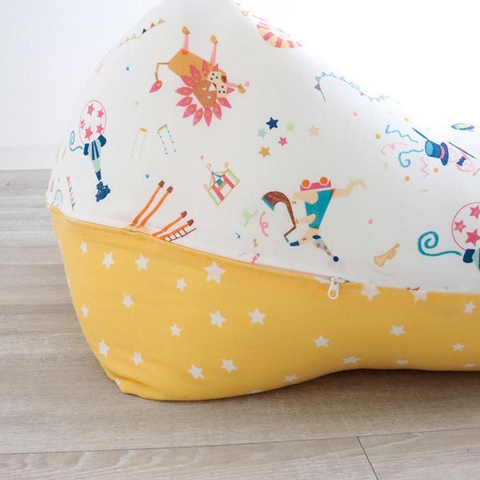 抱き枕 ロングクッション CIRCUS-サーカス-(Aタイプ) ダブルガーゼ 日本製 洗える 抱き枕 授乳クッション 妊婦 授乳まくら マタニティ 赤ちゃん お座り 練習|hashkude|07