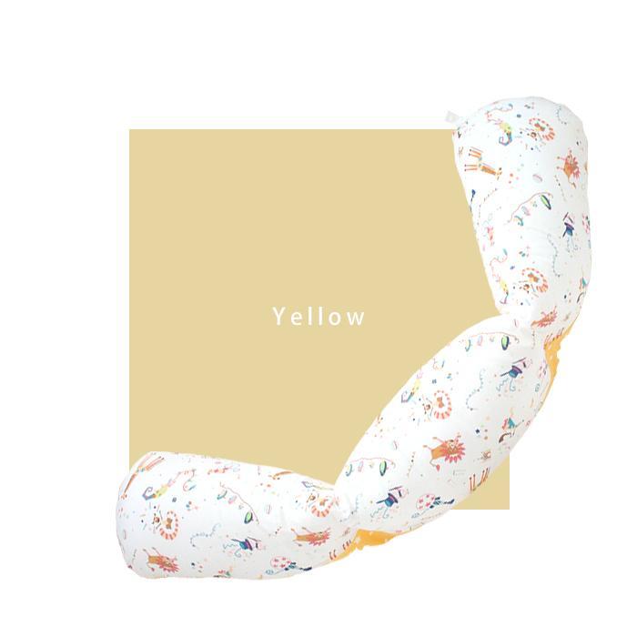 抱き枕 ロングクッション CIRCUS-サーカス-(Aタイプ) ダブルガーゼ 日本製 洗える 抱き枕 授乳クッション 妊婦 授乳まくら マタニティ 赤ちゃん お座り 練習|hashkude|08